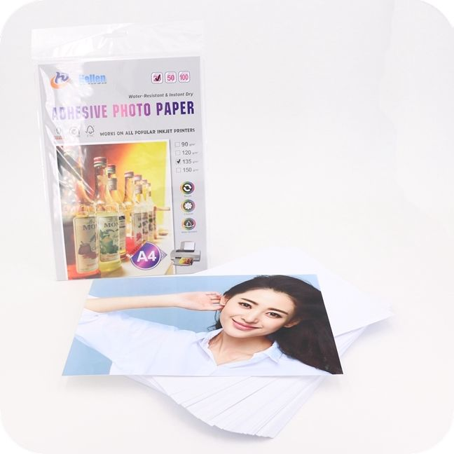 115g 135g 150g self adhesive glossy photo paper sticker inkjet waterproof photo paper glossy inkjet adhesive photo paper