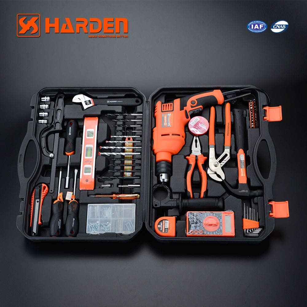 Harden Multi-Functional Professional Chrome Vanadium 75Pcs Hand Tool Impact Drill Set