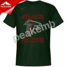 Wholesale Atlanta Falcon rhinestone iron on transfer