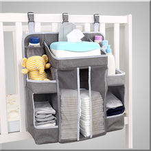 Baby Nursery Organizer and Diaper Caddy Organizer, Hanging Changing Table Diaper Stacker for Crib Storage and Nursery