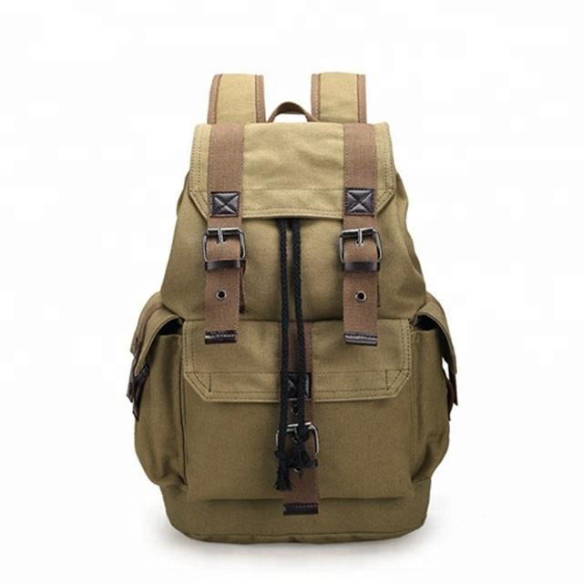 best waxed canvas leather backpack laptop waterproof