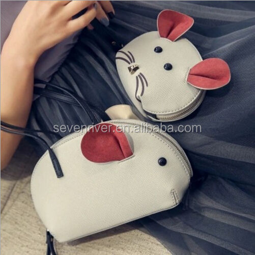 Summer new han edition cute little mouse bag handbag change animal bag