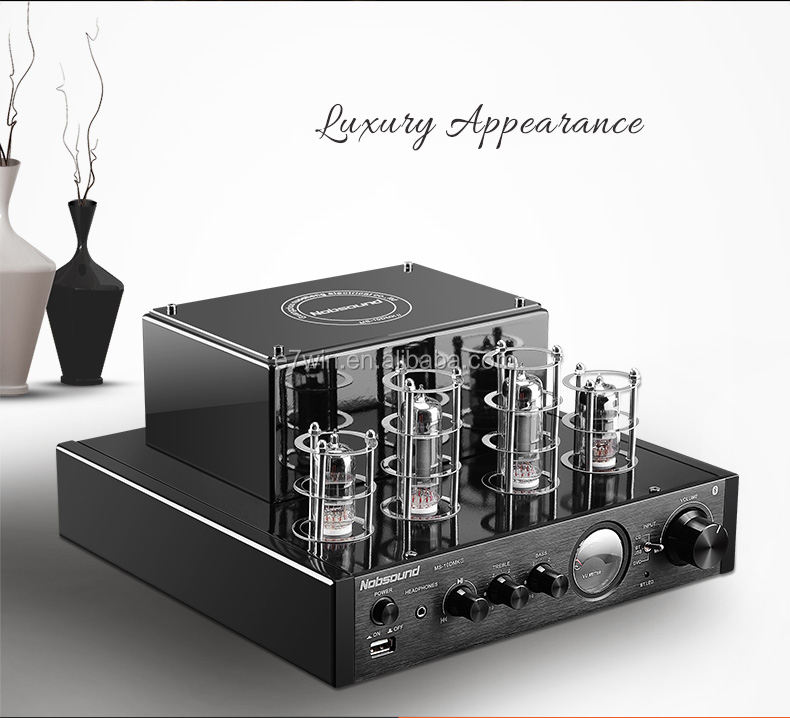 MS-10D MKII Tube Amplifier Hifi Stereo Power Amplifier 25W*2 Vaccum Tube AMP Support and USB 110V or 220V