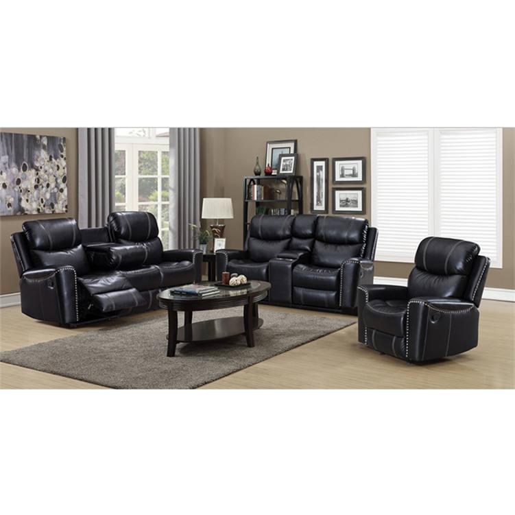 Yeni tasarım sallanan koltuk sandalye satın online büyük boy siyah deri recliner sandalyeler satış
