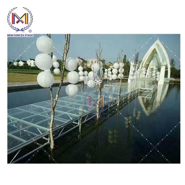 Acrylic wedding stage /acrylic platform stage / swimming pool glass stage,swimming pool acrylic transparent stage