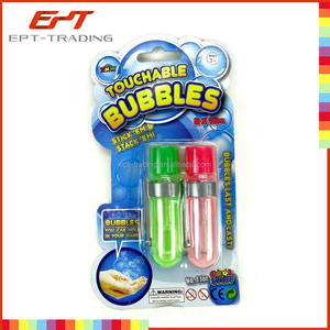 Touchable bubble water