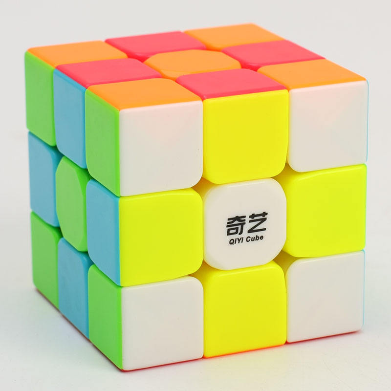 Printed wholesale QiYi Warrior W 3x3x3 color stickerless educational speed magic puzzle cube cubes toys for kids education