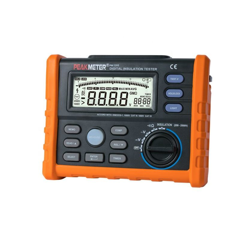 hotsale high accurate 2500V insulation resistance tester megger MS5205 with PI and DAR