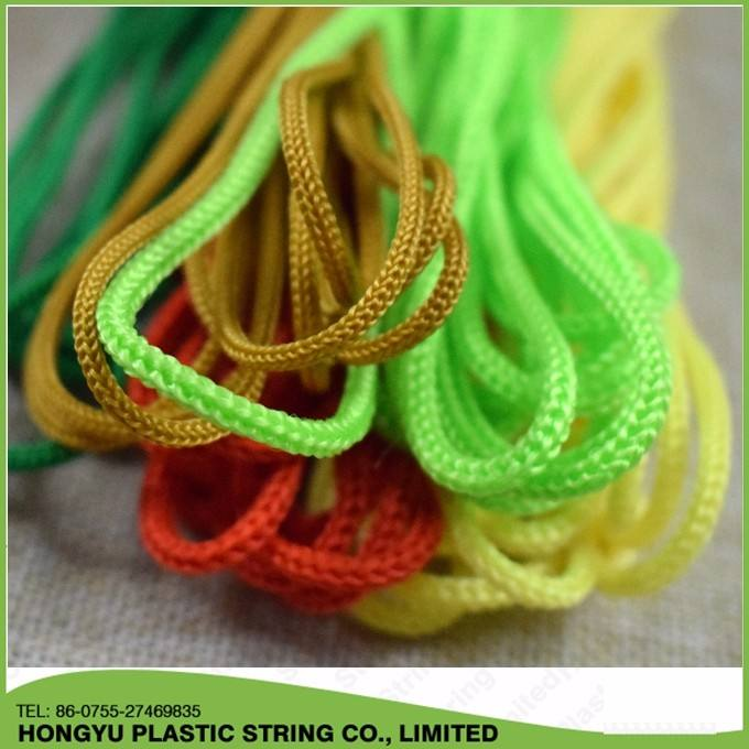 3mm round polyester string braided rope/cord