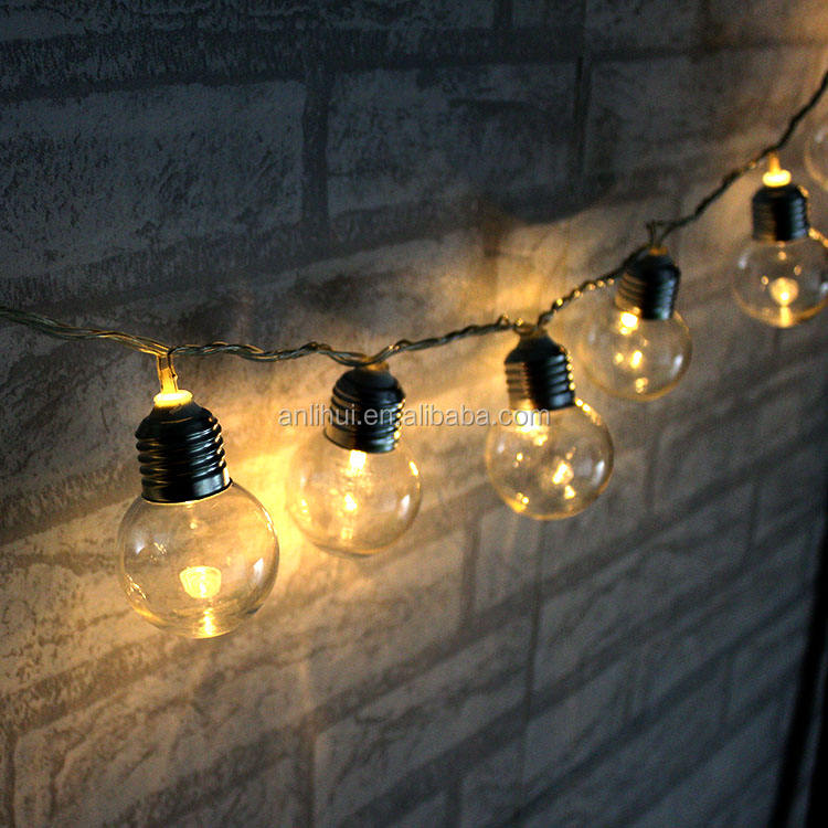Warm White LED Solar Powered Connectable Festoon Party Lights