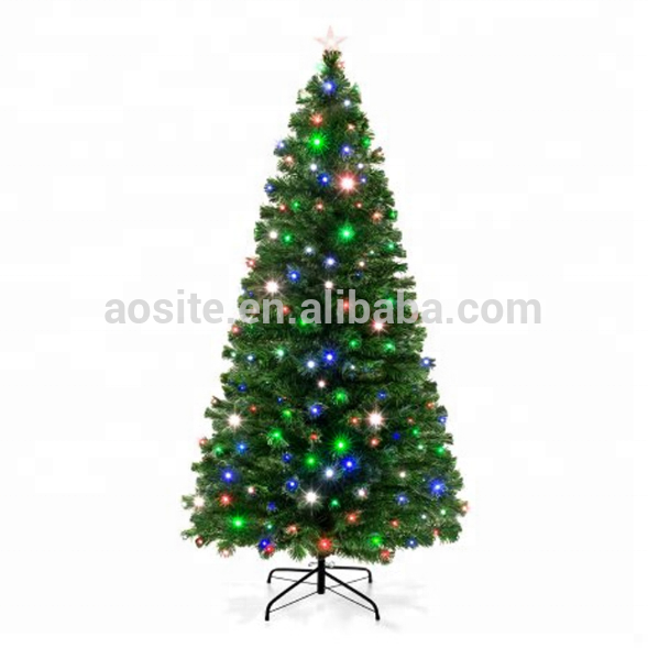 6ft 7ft Artificial Christmas Tree Pre Lit Fiber Optic With Led Light Decor B2 Holiday Seasonal Decor Home Garden