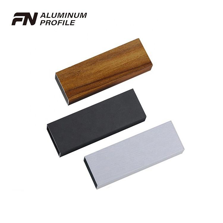 aluminium profiles square tube pipe 6063 with wood grain in china