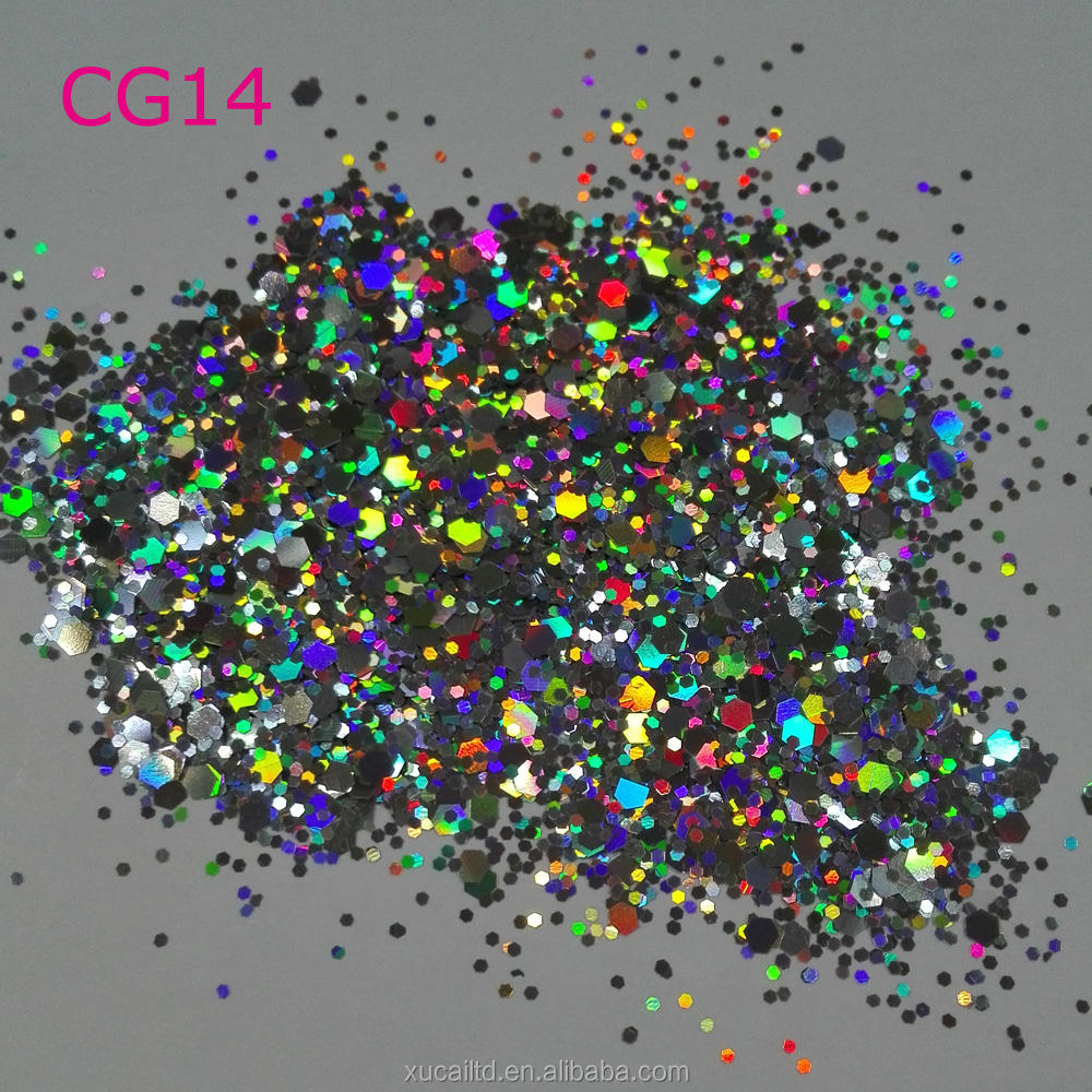 bulk 60 colors cosmetic chunky glitter for body