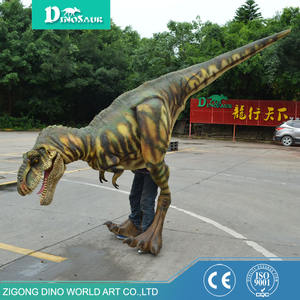 Competitive Price waterproof material Halloween costumes realistic walking velociraptor dinosaur costume