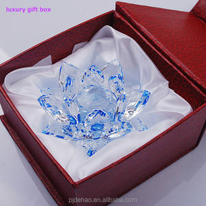 Nice Gift Box Personalized Crystal Lotus 싼 Crystal Gifts
