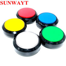 100mm big round push button Arcade flat cover led push button For Arcade game machine