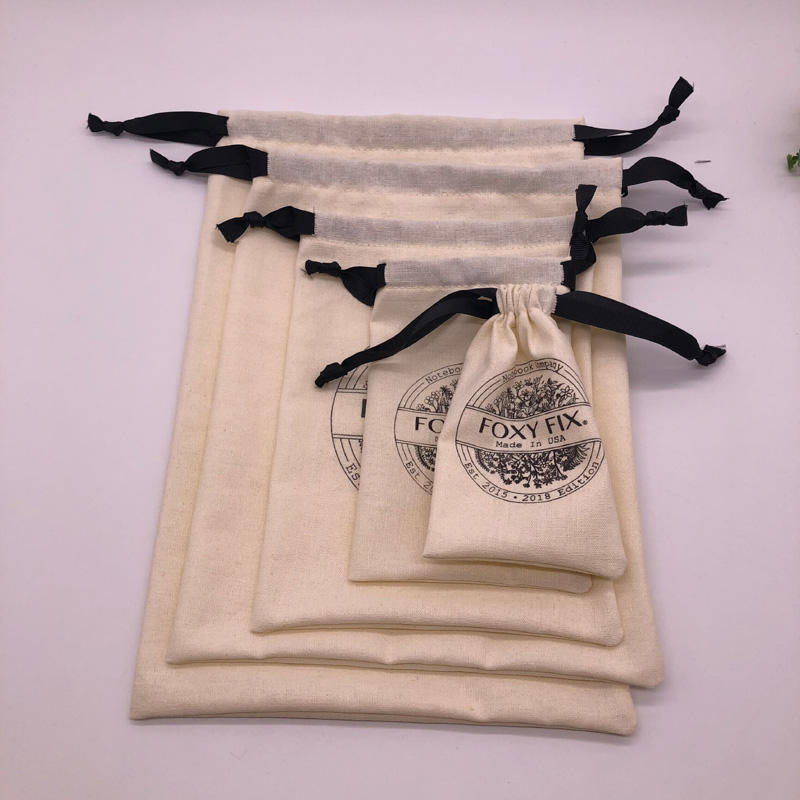Customized Organic Cotton Drawstring Bag