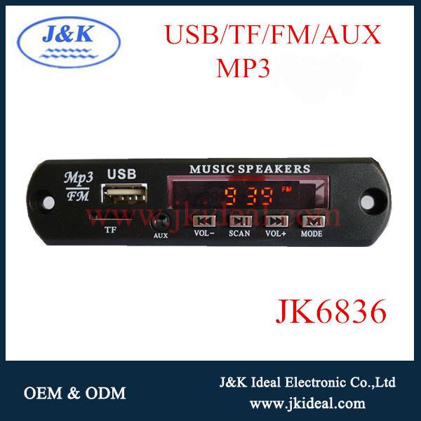 Jk6836 melhor preço mp3 usb sd <span class=keywords><strong>fm</strong></span> rádio com aux display led para áudio do carro