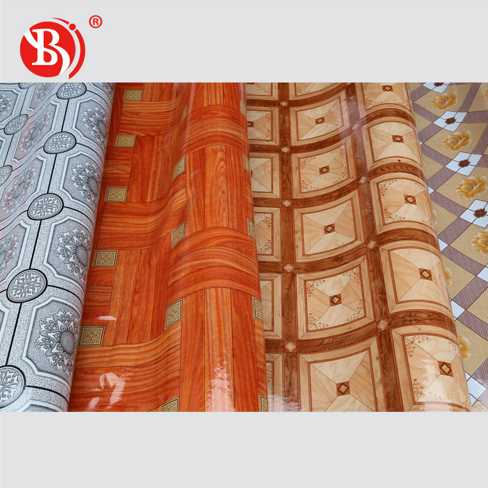 plastic carpet floor price per meter factory wholesale and high quality printed PVC floor covering carpet