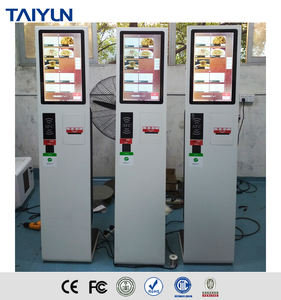 21.5 inch self service ticket vending machine multi touch kiosk for station use