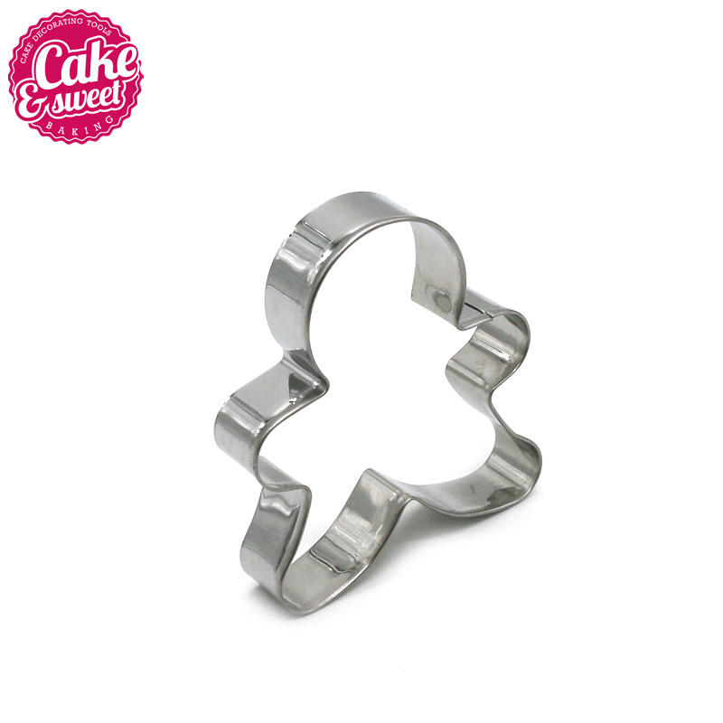 Bulk packing stainless steel Christmas gingerbread man cookie cutter