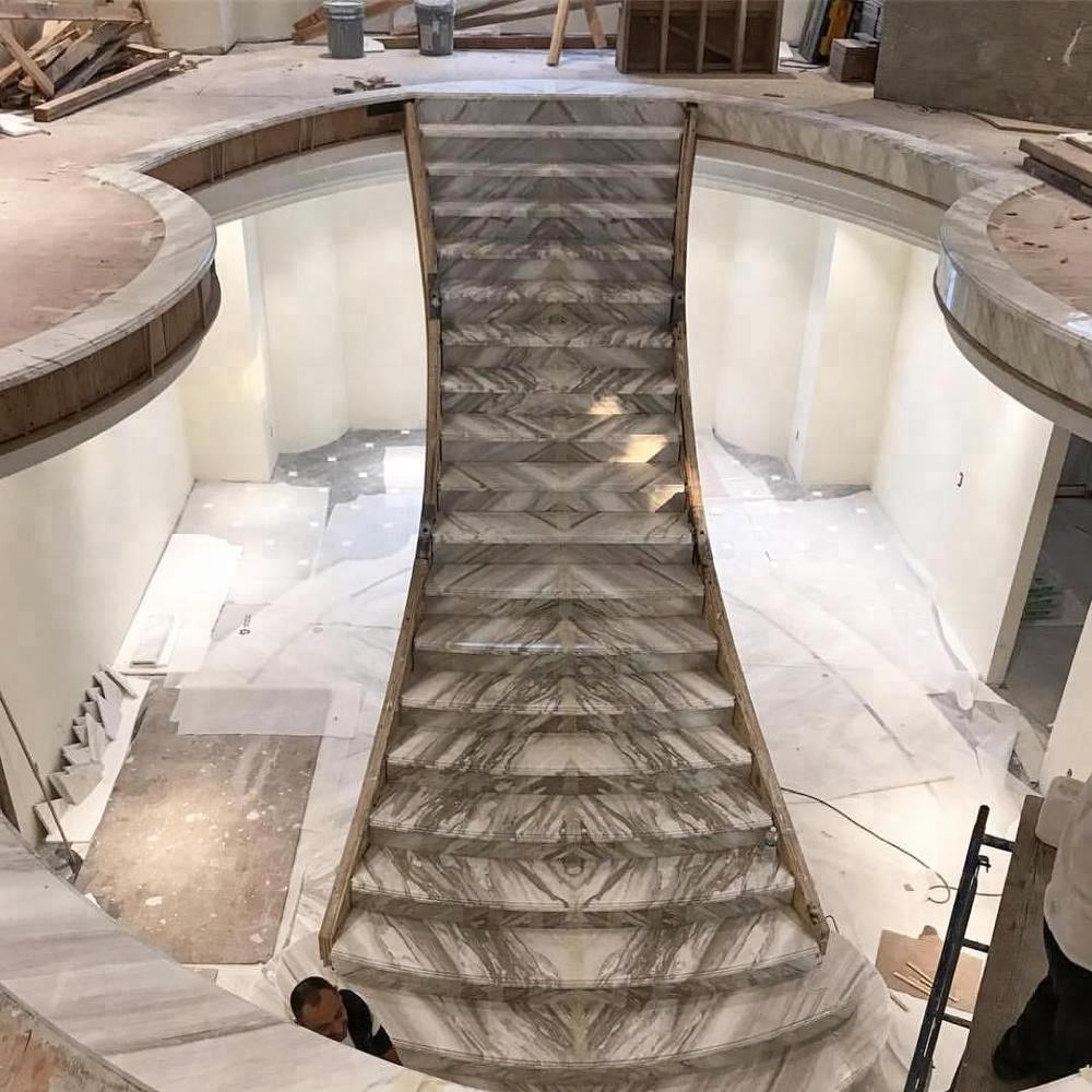 interior marble stair design for house