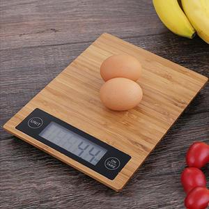 TS-EK24 LCD backlight display digital table food bamboo kitchen scale