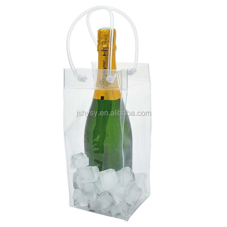 Customized Cool Wine Bag Beer Bottle Cooler & Ice Chiller Freezable Carrier ice bag