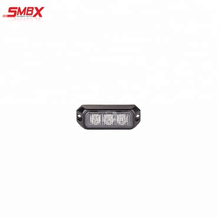 Emergency Vehicles car 3 LED flash Light Amber Red Blue Truck Strobe LED Flashing Warning Light