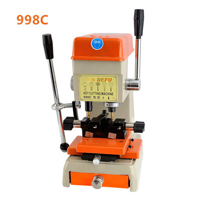 Hot sell key duplicating machine Defu 998C car auto key cutting machine keys copy machine used 220V or 110V with plug