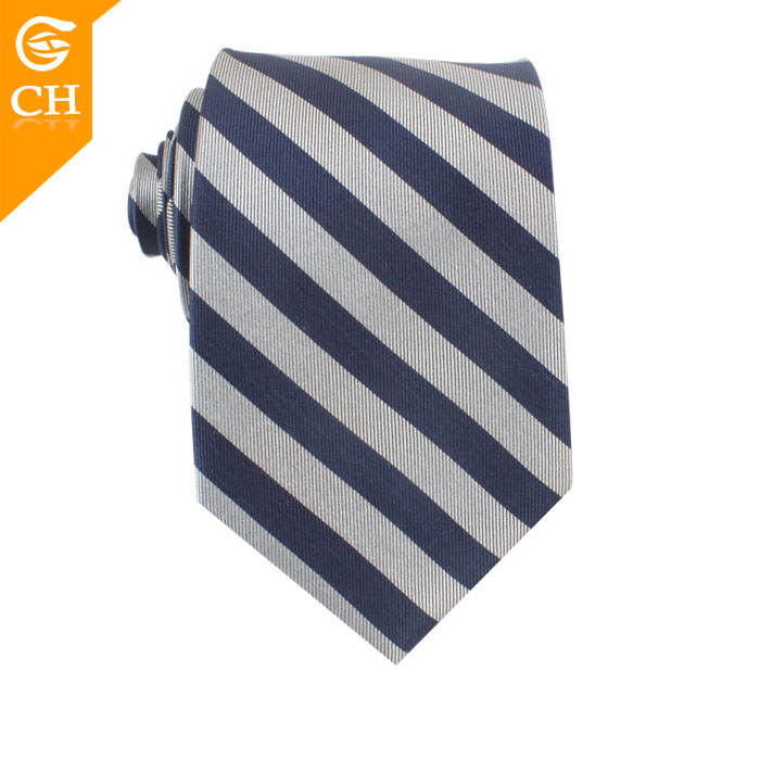 Elegant Italian Silk Ties Woven Strip Necktie Fabric Men