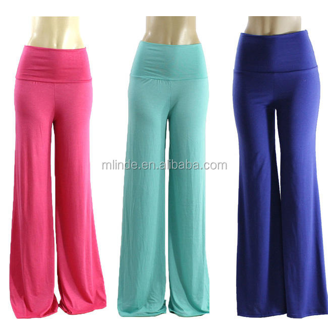 New Model Wholesale Ladies Loose Pajama Palazzo Pants Fashion Blank Plus Size Palazzo Pants For Women Latest Trousers Design