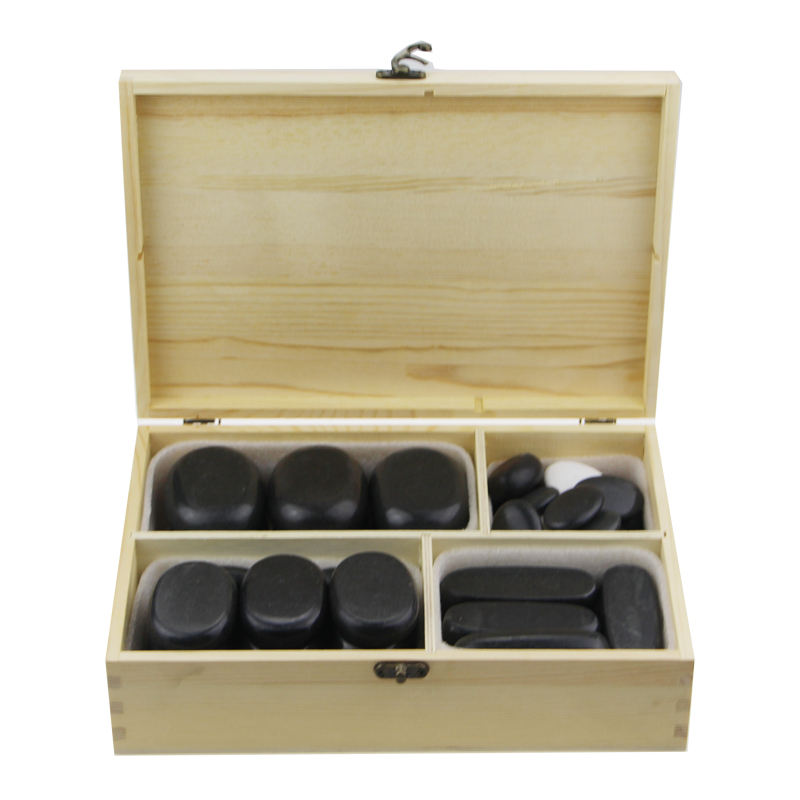 popular hot stone massage set Large Hot Spa Rock Basalt Stones Massage Therapy Lava Natural Stone