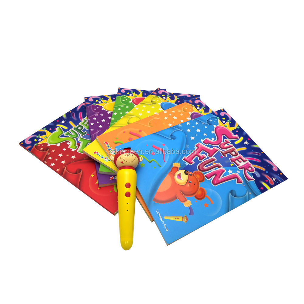 Starter's English Textbook And English Talking Smart Reading Pen Book For Kids Learning English Super Fun