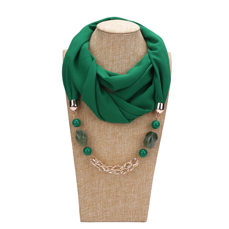 Most Popular Items 7 Colors Beaded Scarf Necklace Scarf Necklace Jewelry
