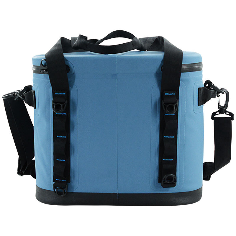 2020 large solar round gym food delivery 12 can water bottle kraft canvas trolley ice jute picnic freezable lunch cooler bag