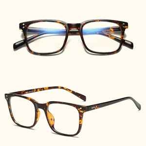 new arrival blue light blocking vintage square TR90 glasses coated lens comfort nose arms eyeglass