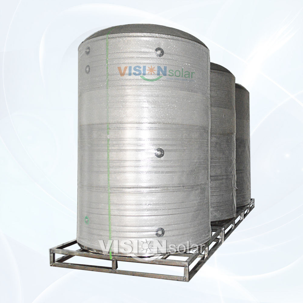 Industrial Stainless Steel Solar Thermal Storage Tanks 1000L