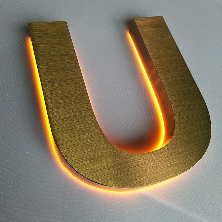 Led 3D письмо знак Led полное освещение буквы люминесцентный знак