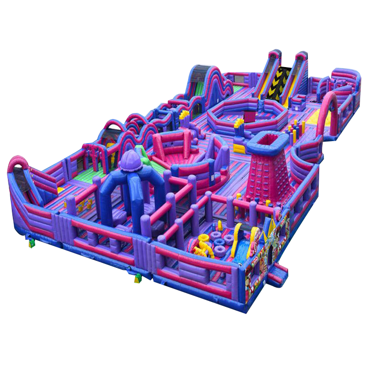 Commercial Outdoor Inflatable Obstacle Courses Challenge Inflatable Party Games For Adults