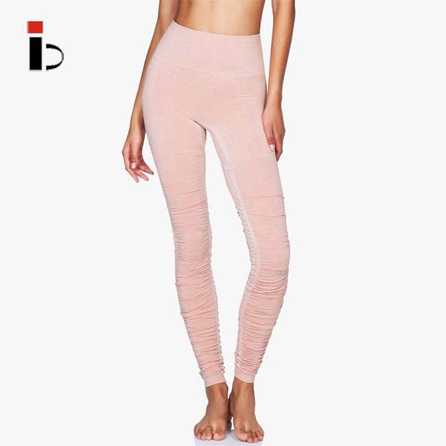 High waist fitness rose dust women ballet leggings for yoga