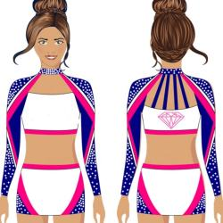 Youth cheerleading crop top and skirts cheer uniforms 2019 with customized