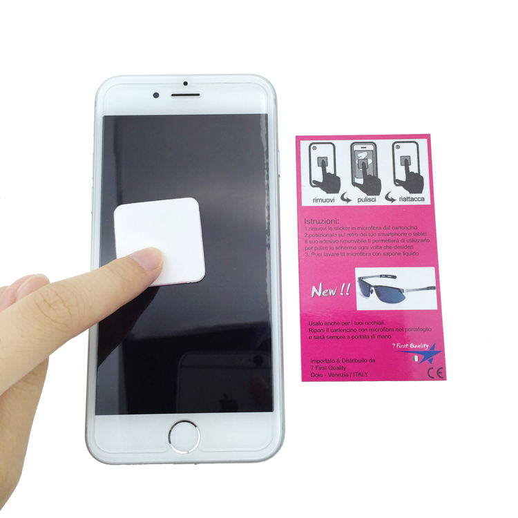 2020 mobile phone microfiber sticker screen cleaner