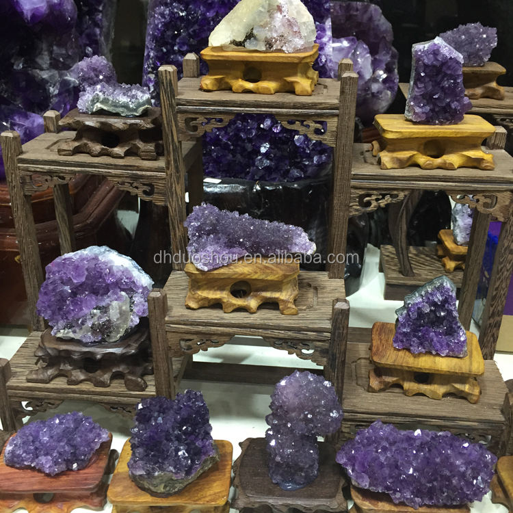 natural purple amethyst geodes crystal grape cluster decoration for sale