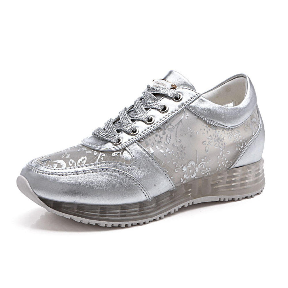 Confort robe taille photos casual maille en cuir dames chaussures