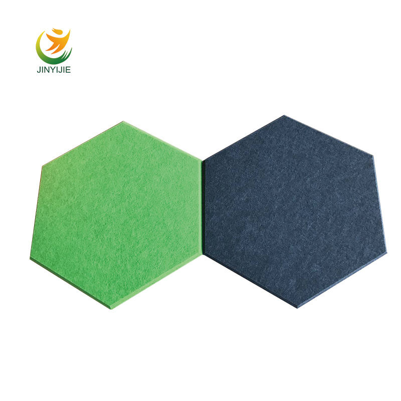 Acustic pet panel decken insulation fiber panel acoustics sound damping 4'' acoustical wall panel for gym