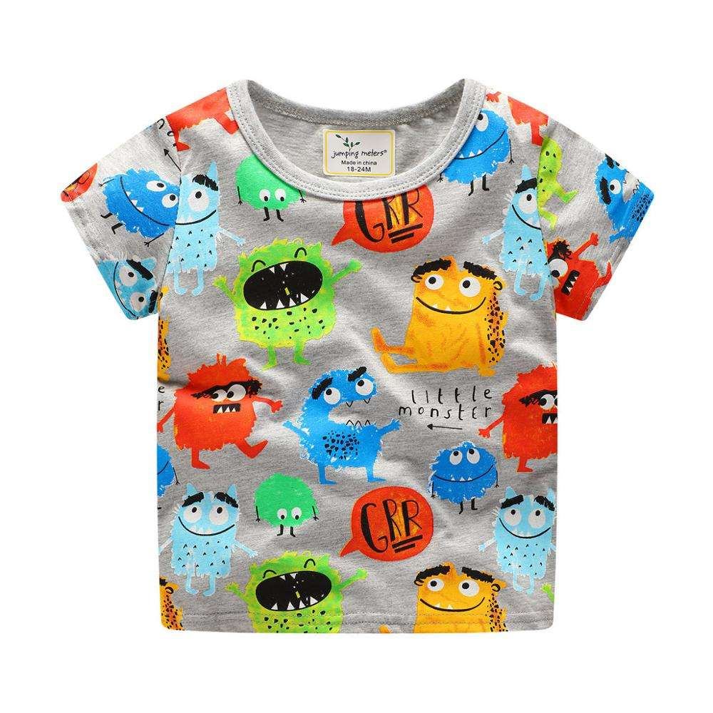 2019 Summer Korean Style Pure Cotton Children Boutique Clothing For Kids Boy With Funny Print