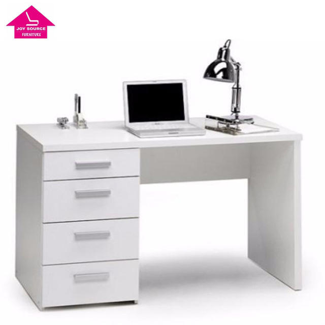 Made in China Office Furniture White Office Computer Desk with Four Drawers