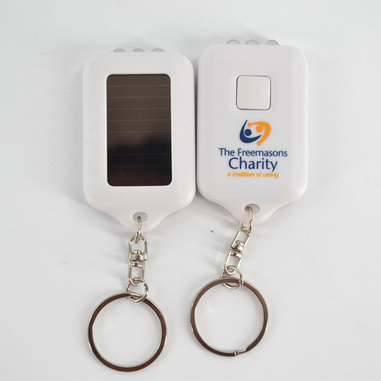 Advertising Rechargeable Solar Flashlight Keychain, Mini Solar Torch Keychain, Torchlight Keyring