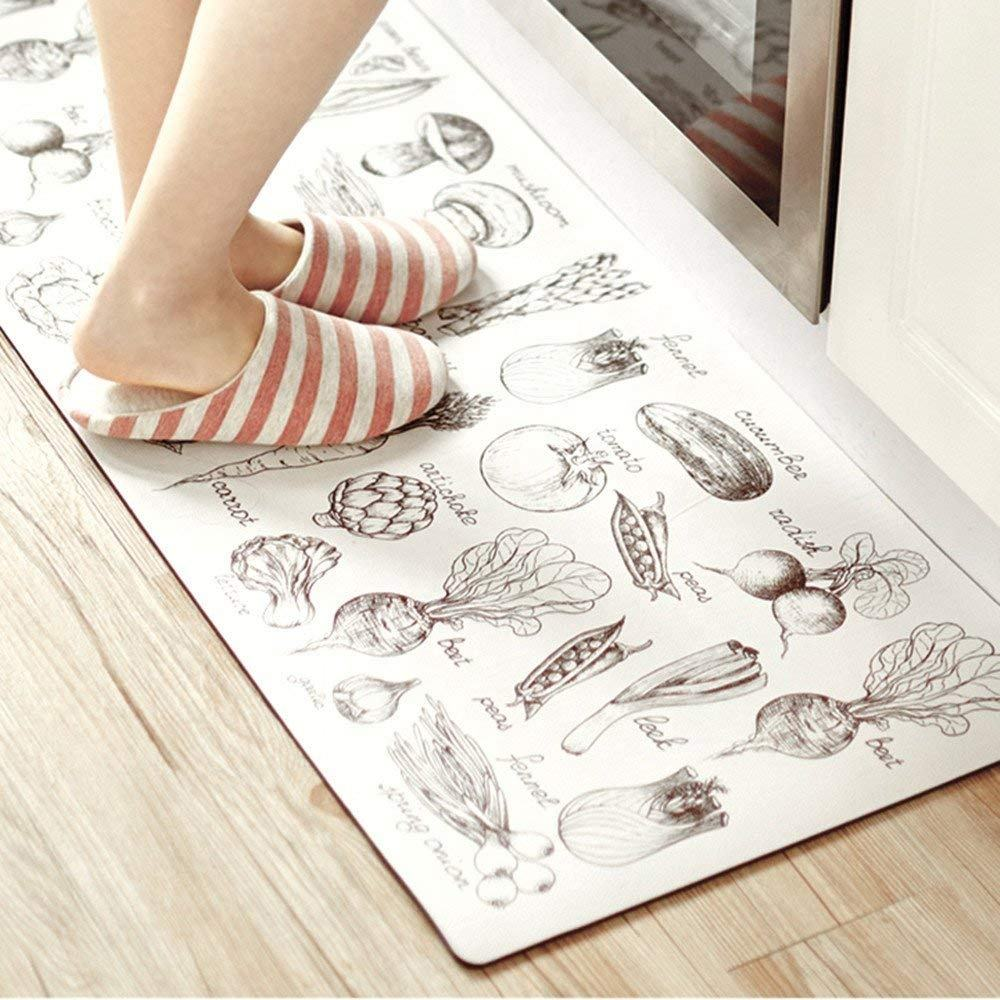 Anti-Slip 3d Printing Clear Kitchen Counter Rubber Floor Mat